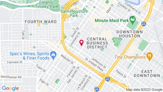Holiday Inn Houston Downtown, an IHG Hotel Map