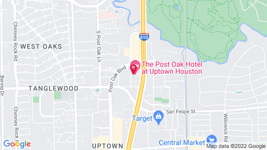 The Post Oak Hotel at Uptown Houston Map
