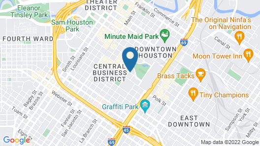 Embassy Suites Houston Downtown Map