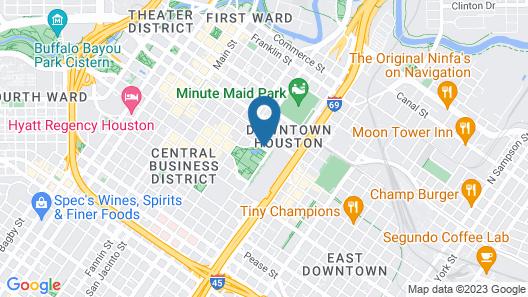 Marriott Marquis Houston Map