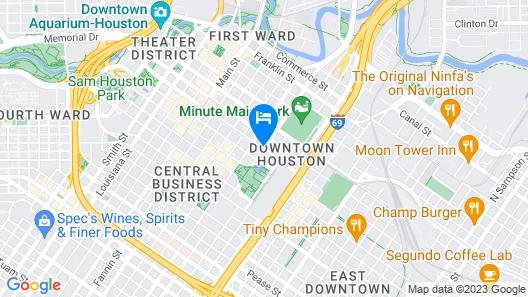 Hampton Inn Houston Downtown Map