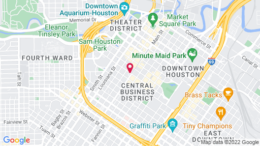 Courtyard by Marriott Houston Downtown/Convention Center Map