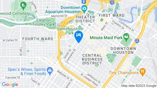 Hyatt Regency Houston Map