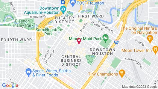 Le Meridien Houston Downtown Map