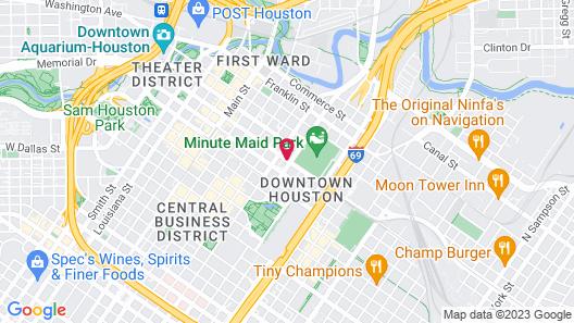 The Westin Houston Downtown Map