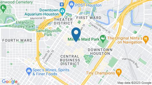 Aloft Houston Downtown Map