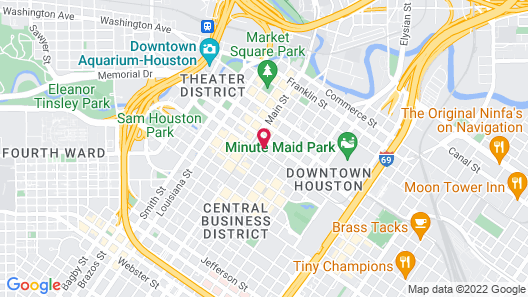 Club Quarters Hotel in Houston Map