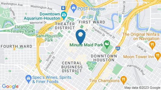Club Quarters Hotel in Houston Map