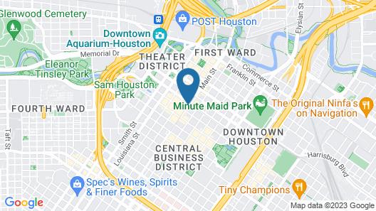 JW Marriott Houston Downtown Map