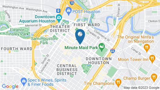 Hyatt Place Houston Downtown Map