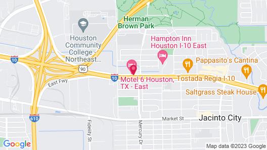 Motel 6 Houston, TX - East Map