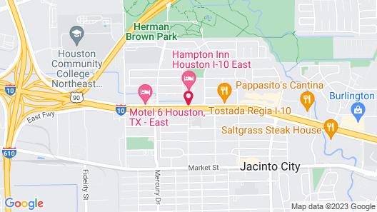 Hampton Inn Houston I-10 East Map