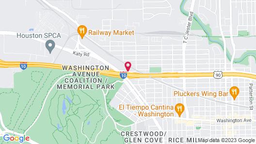 Hampton Inn & Suites Houston Heights I-10 Map