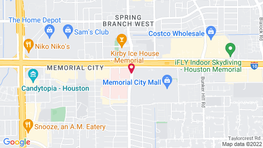 The Westin Houston, Memorial City Map