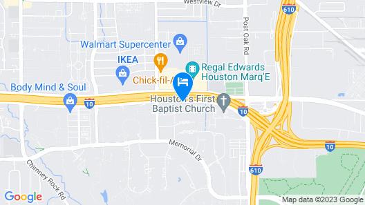 Crowne Plaza Houston Galleria Area, an IHG Hotel Map