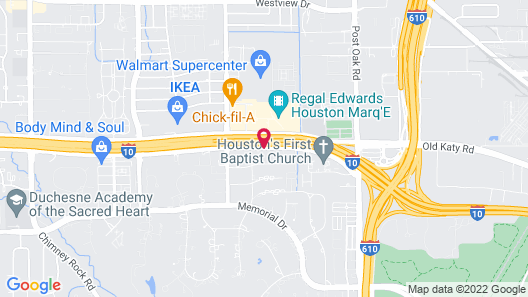 Crowne Plaza Houston Galleria Area Map
