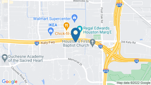 Crowne Plaza Houston Galleria Area Map