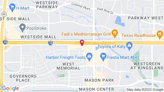 Motel 6 Katy, TX - Houston Map