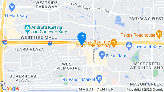 Hampton Inn & Suites Houston Katy Map