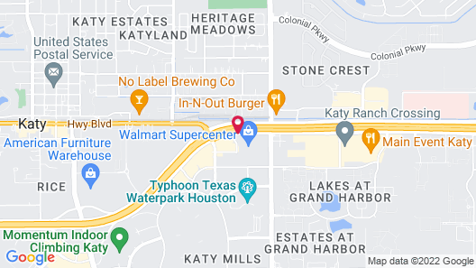 Comfort Suites at Katy Mills Map