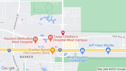 Residence Inn Houston I-10 West/Park Row Map