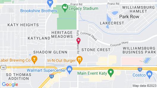 Studio 6 Katy, TX Map