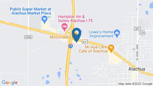 Hampton Inn & Suites Alachua I-75, FL Map