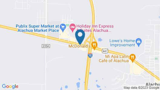 Americas Best Value Inn Alachua Map