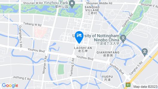Wheat Hotel Ningbo Map