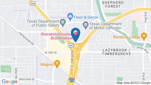 Sheraton Houston Brookhollow Hotel Map