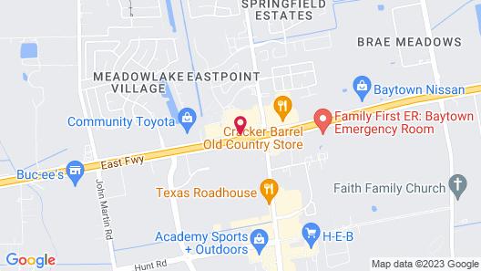Motel 6 Baytown, TX - Garth Rd Map