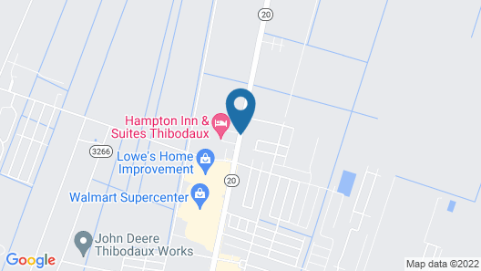 Hampton Inn & Suites Thibodaux Map