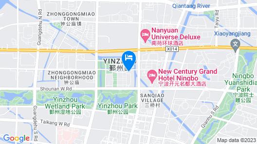 New Century Grand Hotel Ningbo Map