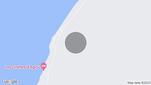 Troglodyte Dwelling Fisherman Facing the sea on Sandy Beach Map