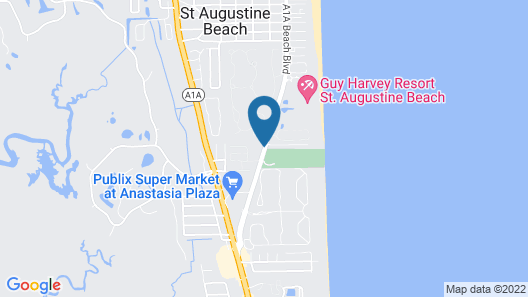 Quality Inn & Suites St Augustine Beach Area Map