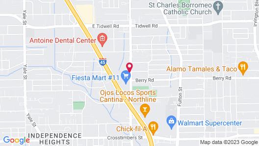 Motel 6 Houston, TX - Downtown North Map