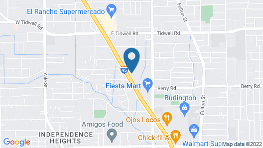 Haven Inn & Suites Downtown Houston Map