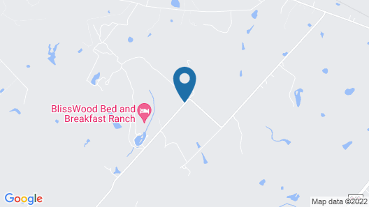 BlissWood Bed and Breakfast Ranch Map