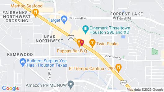 Hampton Inn Houston - Brookhollow Map