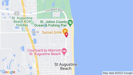 Hampton Inn St. Augustine Beach Map