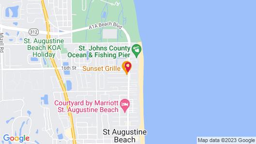 Hilton Garden Inn St. Augustine Beach Map