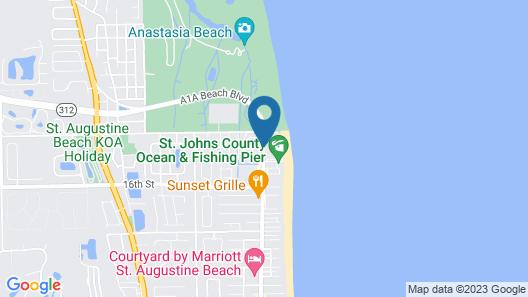 Super 8 by Wyndham St. Augustine Beach Map