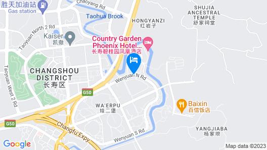 Country Garden Phoenix Hotel Chongqing Map
