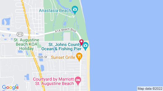 Embassy Suites By Hilton St Augustine Beach-Oceanfront Resor Map