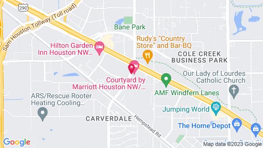 Courtyard by Marriott Houston NW/290 Corridor Map