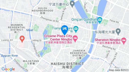Crowne Plaza City Center Ningbo Map