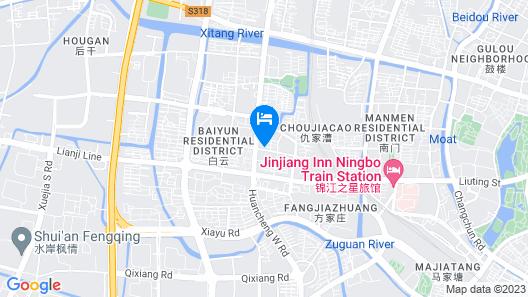 Ningbo New Golden Star Hotel Map