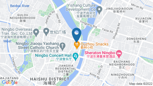 Shangri-La Hotel Ningbo Map