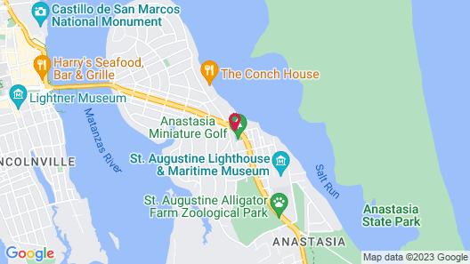 St. Augustine Inn Map