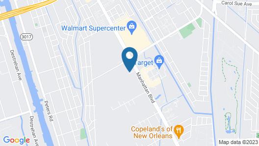 Hampton Inn & Suites Harvey/New Orleans West Bank Map